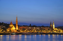 3 Budapest noc scena Fotografia Royalty Free