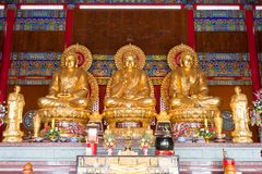 3 Buddha Statue in Chinese Temple Royalty Free Stock Images