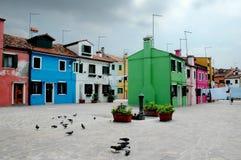 3 buranofärger Fotografering för Bildbyråer