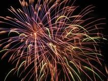 3 burst fireworks Στοκ Εικόνες