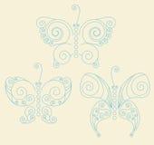 3 butterflies Stock Image