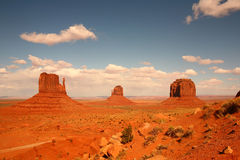 3 Buttes in valle Arizona del monumento Fotografia Stock Libera da Diritti