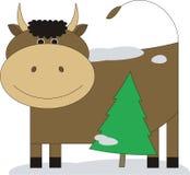 3 byków futerka drzewo Royalty Ilustracja