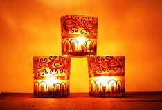 3 candelieri in un mucchio Fotografia Stock