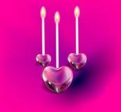 3 candle heart иллюстрация штока