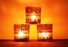 3 candlesticks stos Zdjęcie Stock