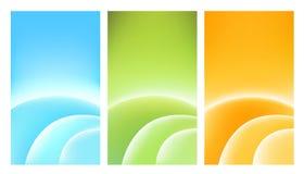 3 cartões coloridos Imagem de Stock