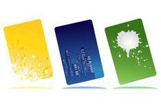 3 cartes de conception Image libre de droits