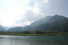 3 cavazzo lago. Fotografia Stock