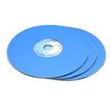 3 CD的查出的rom集 免版税图库摄影