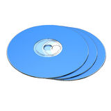 3 CD-rom Set Isolated. 3 Compact disk isolated on white background Royalty Free Stock Photography