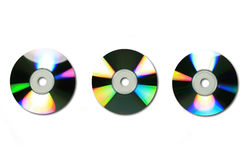 3 cds/dvds Stock Photo