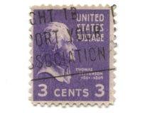 3 cent gammal portostämpel USA Royaltyfri Foto
