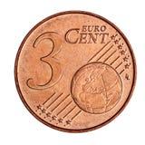 3 centu menniczy euro Zdjęcia Stock