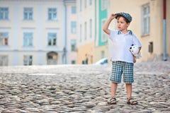 3 chłopiec trochę starych outdoors portreta rok Zdjęcia Stock