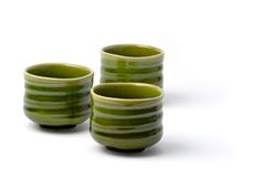 3 chińska herbata trzy kubki Fotografia Stock