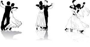 3 chiffres de danseurs Photo stock