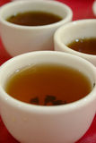 3 chinese tea cups Royalty Free Stock Images