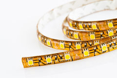 3-chip SMD LED strip. Strip with 60 LEDs 3-chip SMD LED per meter Royalty Free Stock Photo