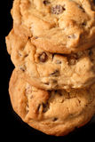 3 chocolate chip cookies Stock Images
