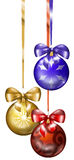 3 Christmas balls Stock Photo