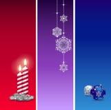 3 Christmas baners Royalty Free Stock Photography