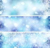3 Christmas banners Royalty Free Stock Photography