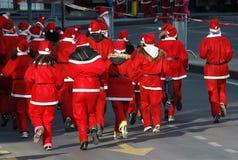 3 Claus biegowy Santa Zdjęcia Royalty Free