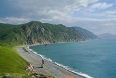 3 cloudscape海岸 免版税库存照片