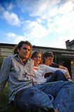 3 college students Stock Photos