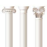 3 colonne negli stili differenti Fotografia Stock