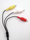 3 color RCA jacks 1 Stock Photos