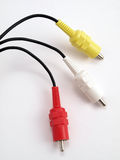 3 color RCA jacks 2 Royalty Free Stock Images