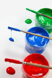 3 colores con los cepillos Imagen de archivo