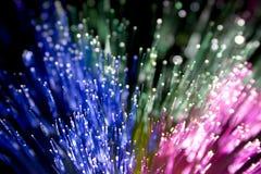 3 colores de fibra óptica Imagen de archivo