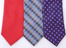 3 colorful ties isolated Royalty Free Stock Photo