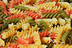 3 colors fusilli Royalty Free Stock Photography