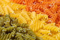 3 colors fusilli Royalty Free Stock Photos