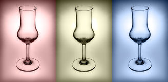 3 colors of glass, red,blue,Yellow Royalty Free Stock Images