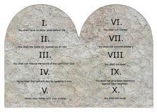 3 commandments tio Arkivbild