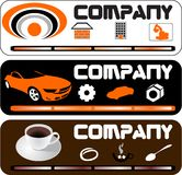 3 compagnie templates.cdr Photographie stock