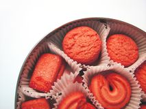 3 cookies red arkivfoto