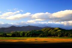 3 coucher du soleil rural neuf la zélande Photo stock