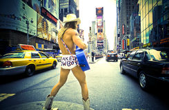 3 cowboydollar för 13 affär naket Royaltyfri Bild