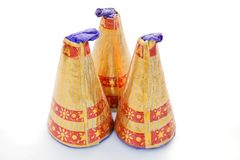 3 Crackers is waiting for fire. These crackers is very femous on Diwali festival Royalty Free Stock Photos