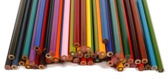 3 crayons de couleur Photographie stock libre de droits