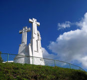 3 crosses. Three croses on the hill in Vilnius Stock Photography