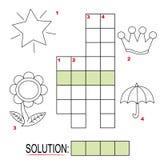 3 crossword dzieciaków część łamigłówka Obrazy Royalty Free