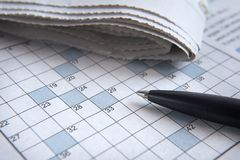 3 crosswords Zdjęcia Royalty Free