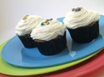 3 cupcakes Στοκ εικόνα με δικαίωμα ελεύθερης χρήσης